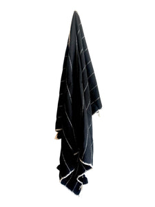 Crudo Throw Blanket - Black