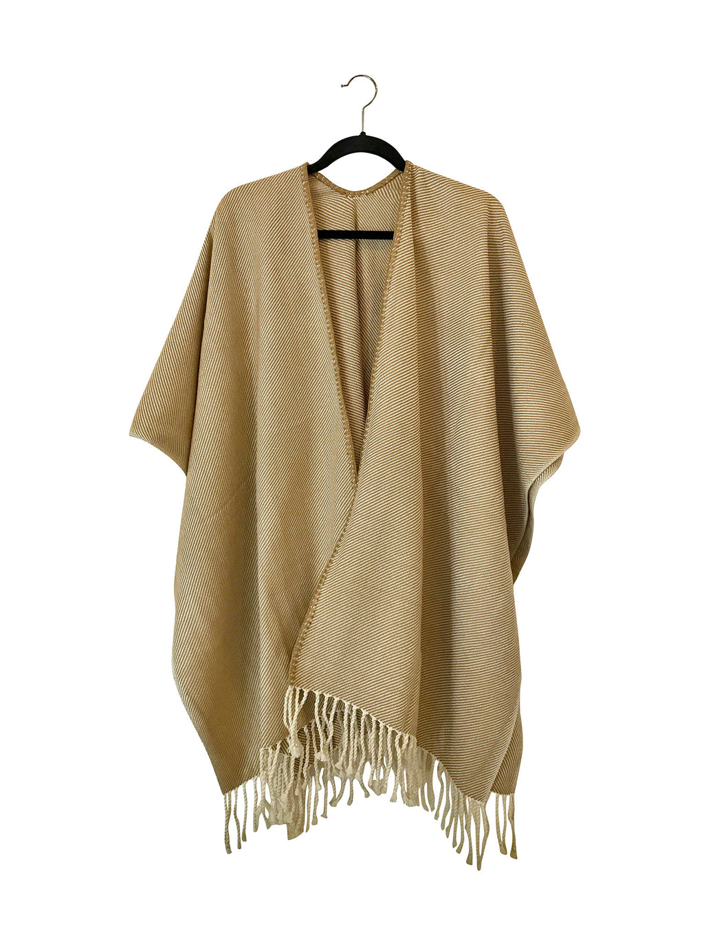 Tabacco Poncho Open Front