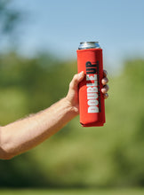 Load image into Gallery viewer, Red Doubleup - Double Can Cooler – The Can Cooler That Holds Two Cans