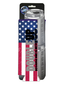 American Flag Doubleup - Double Can Cooler – The Can Cooler That Holds Two Cans