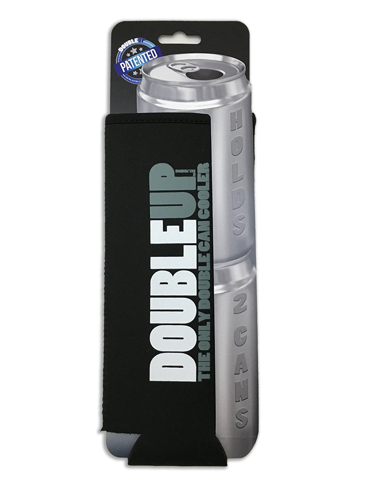 Black Doubleup - Double Can Cooler – The Can Cooler That Holds Two Cans