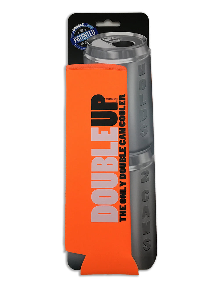 Orange Doubleup - Double Can Cooler – The Can Cooler That Holds Two Cans