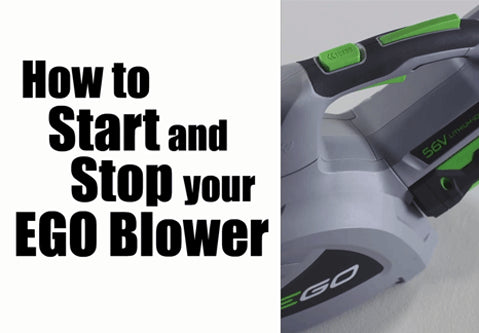 blower how to start and stop ego power plus. Black Bedroom Furniture Sets. Home Design Ideas