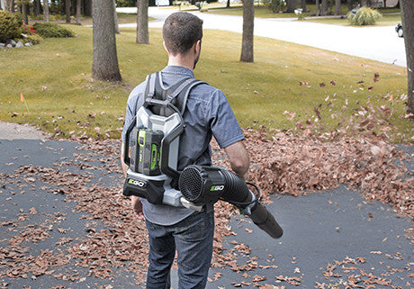 Backpack Blower in use