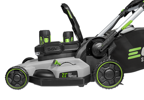 "Power+ 21"" Self-Propelled Lawn Mower w/ (2) 5.0Ah batteries & Rapid Charger"