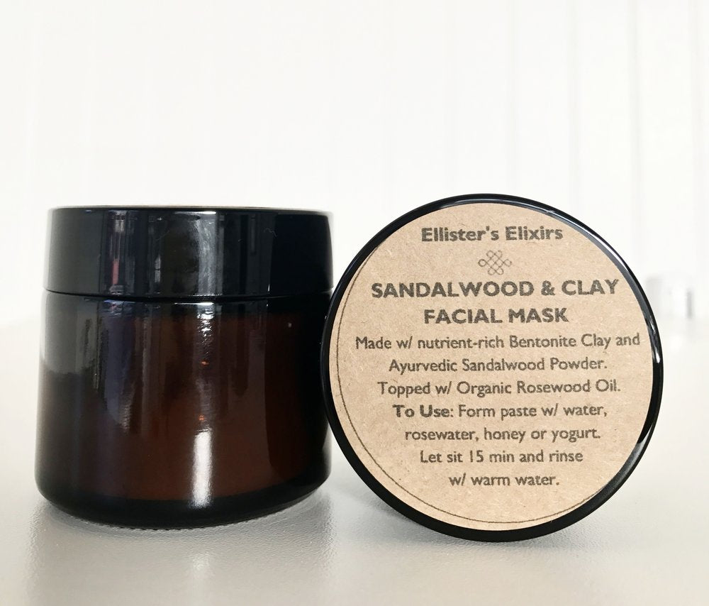 Sandalwood and Clay Facial Mask