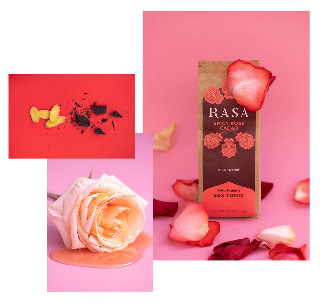 RASA Spicy Rose Cacao - Adaptogen Sex Tonic