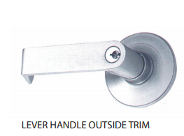 Lever handle - Outside trim for commercial doors - protège-toi.ca