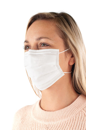 Masque Jetable Medical niveau 3 Finnie (Paquet de 50) - protège-toi.ca