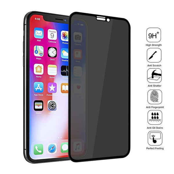 Full Cover Private Screen Protector For iPhone  Antispy Tempered Glass Privacy