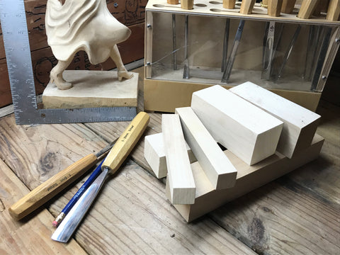 Basswood carving blocks from Schaaf Tools