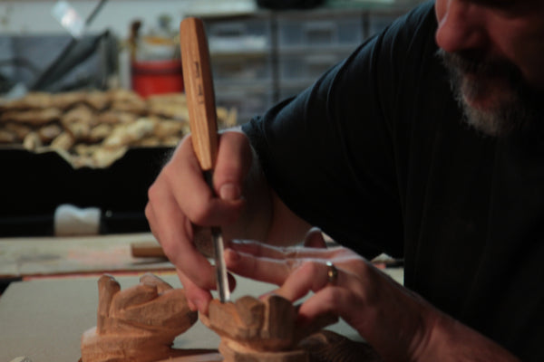 Relief carving with Schaaf Tools gouges