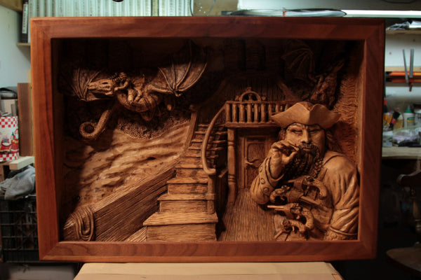 Relief Carving by Madcarver with Schaaf Wood Carving Tools