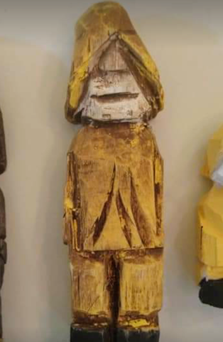 """Tim Collins """"Sully"""" Wood Carving"""
