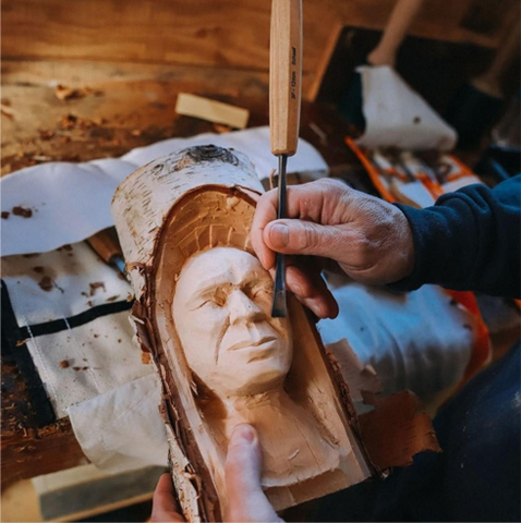carving in the round wood spirits