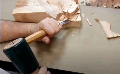 how to use a wood carving mallet beginner tutorial