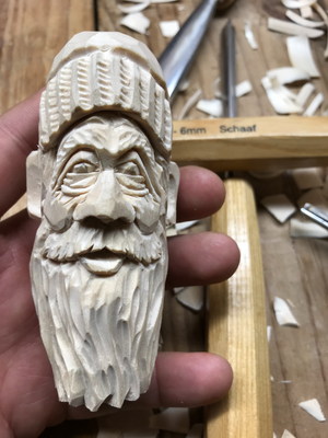 Sculpture using Basswood
