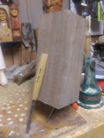Large walnut carving block for wood carving
