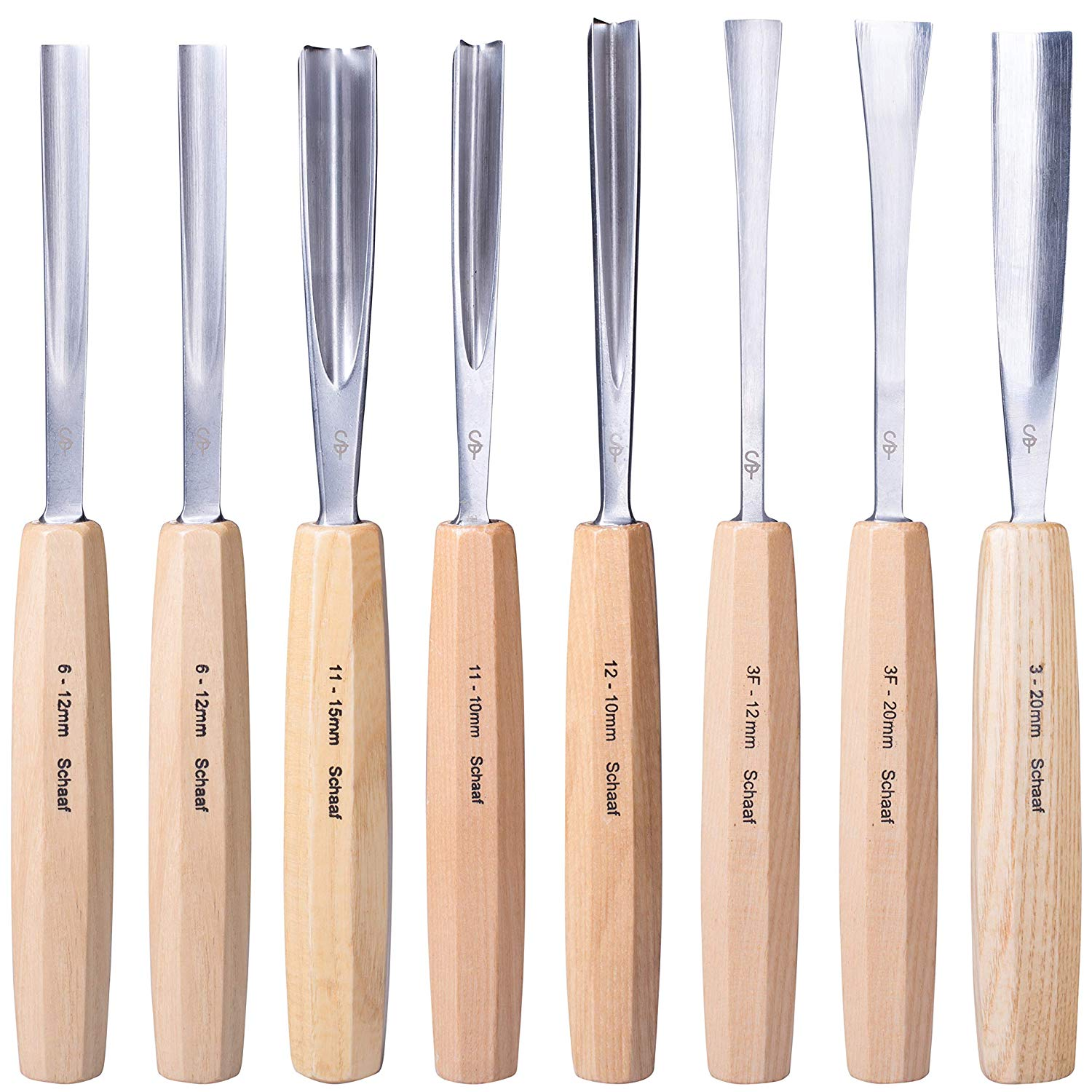 Premium - Set of 7 - Hand Sharpened Beginner Wood Carving Tools - Additional Profiles