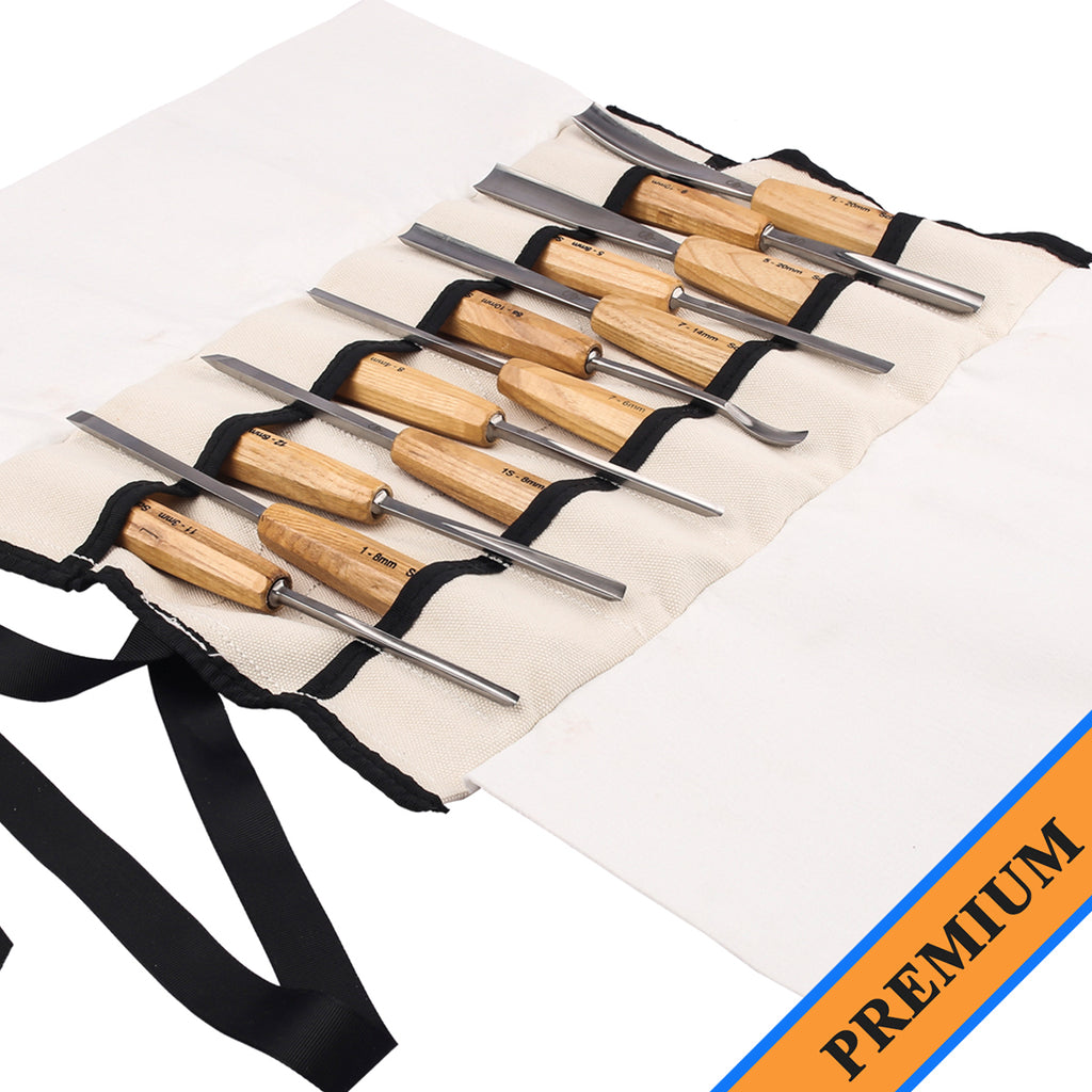 Picture of 12- piece premium set of wood carving tools