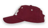 Alameda Anchor A Baseball Cap - Side View Maroon