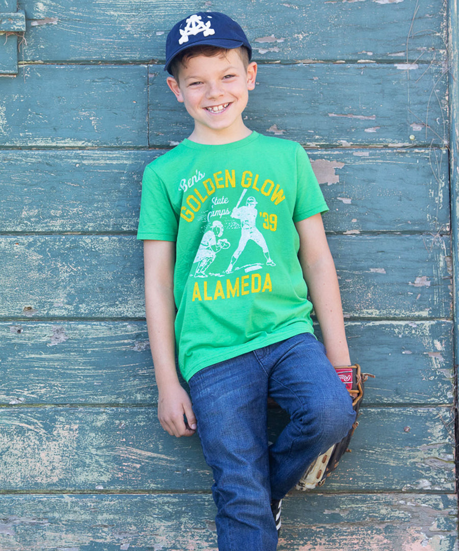 Kids Ben's Golden Glow Baseball T-Shirt