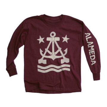 Anchor A Kid's Long Sleeve T-Shirt