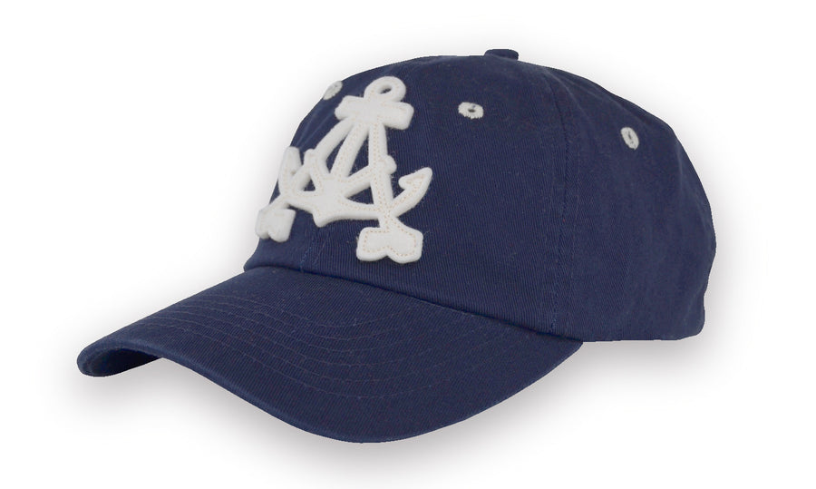 Alameda Anchor A Baseball Cap - Navy