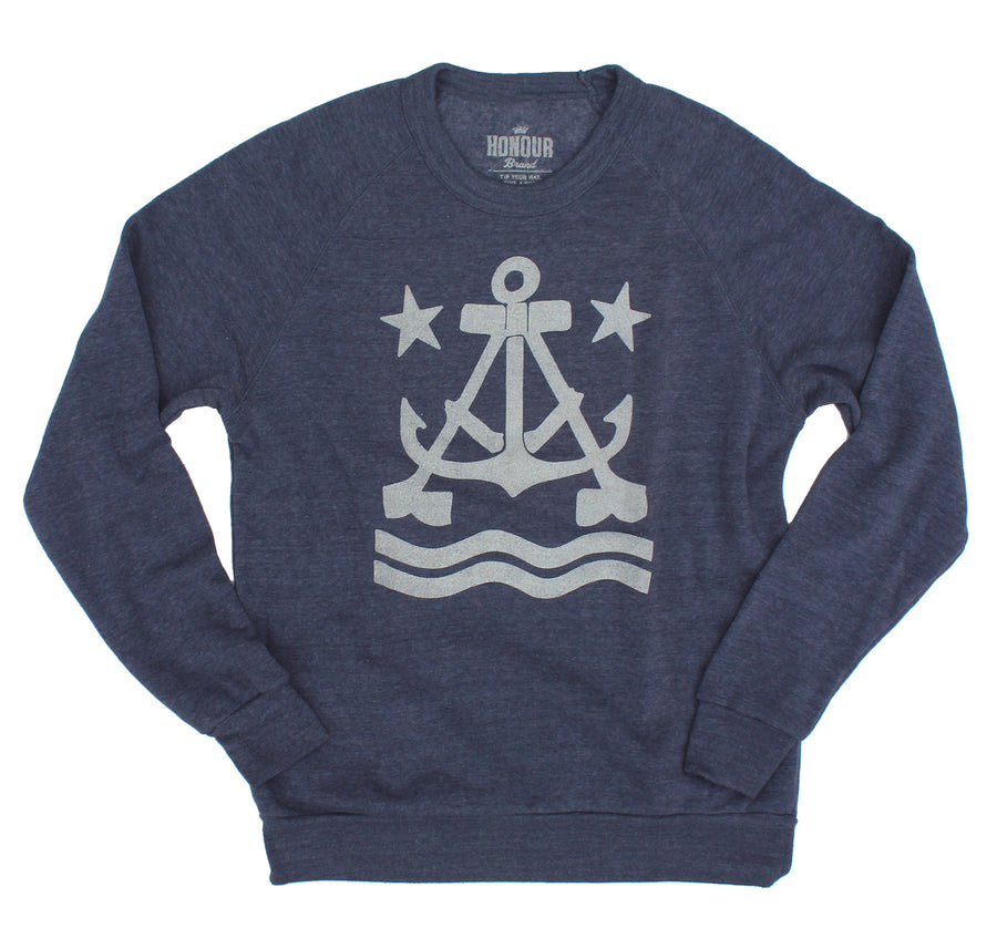 Anchor A Crew Neck Fleece Sweatshirt