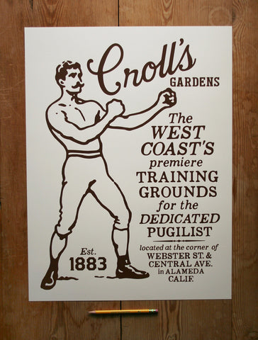 Croll's Boxing Gardens Poster