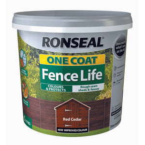Ronseal One Coat Fence Life 5L Red Cedar