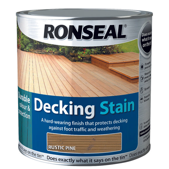 Ronseal Decking Stain 2.5L Rustic Pine