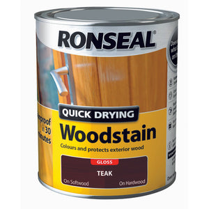 Quick Drying Woodstain 750ml Teak Gloss