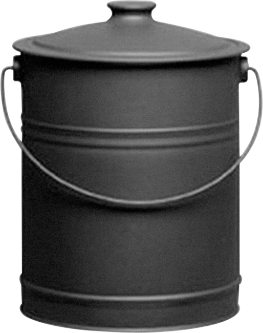 Blk Steel Coal Bucket With Lid - 420753