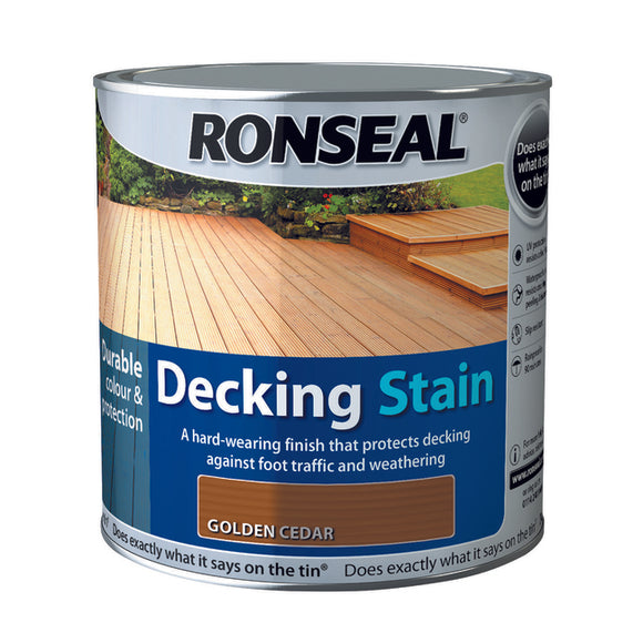 Ronseal Decking Stain 2.5L Golden Cedar