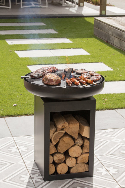 BBGrill Matanzas Firepit With Wood Storage -395660