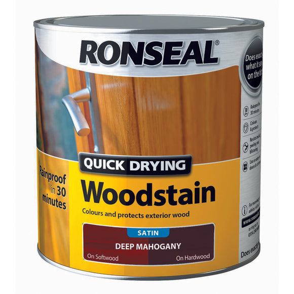 Quick Drying Woodstain 2.5L Deep Mahogany