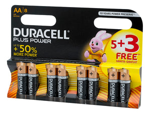Duracell 5 + 3 AA Battery Pack