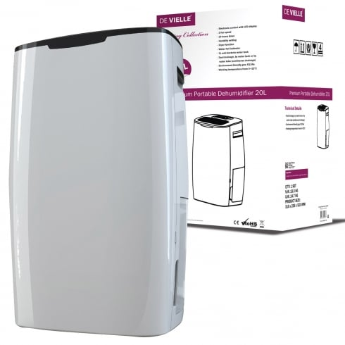 De Vielle Collection - Premium Portable Dehumidifier 10L