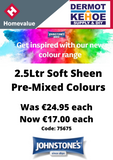 Johnstones 2.5Ltr Pre-Mixed Colours - Special Offer