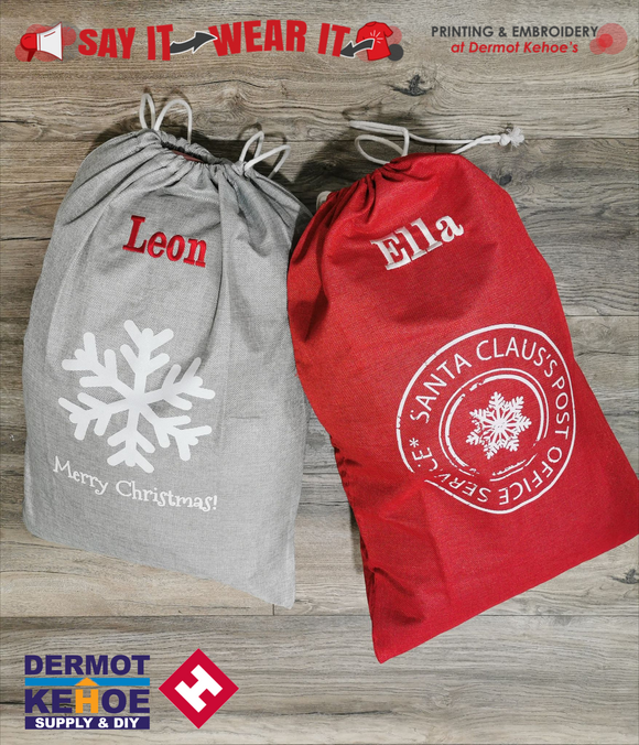 Personalised Christmas Present Sack ONLY €9.95 - 66024