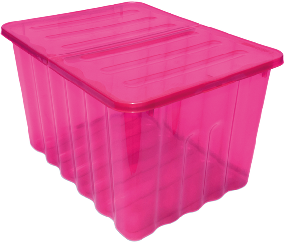 28L Storage Box Tint Pink With Folding Lid