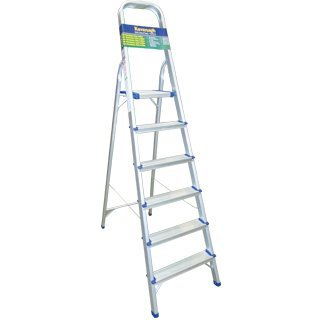 Homevalue 6 Tread Aluminium  Step Ladder - 730003