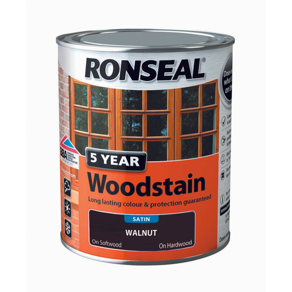 5 Year Woodstain 750ml Walnut