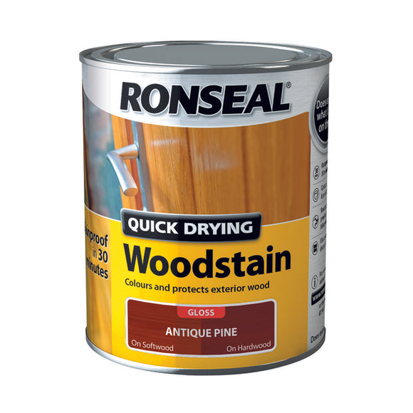 Quick Drying Woodstain 750ml Antique Pine Gloss