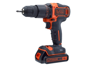 Black & Decker 18V Combi Drill with 120 Piece Accessory Set