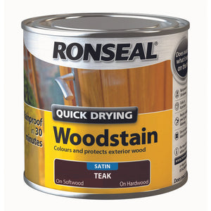 Quick Drying Woodstain 250ml Teak