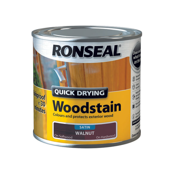 Quick Drying Woodstain 250ml Walnut