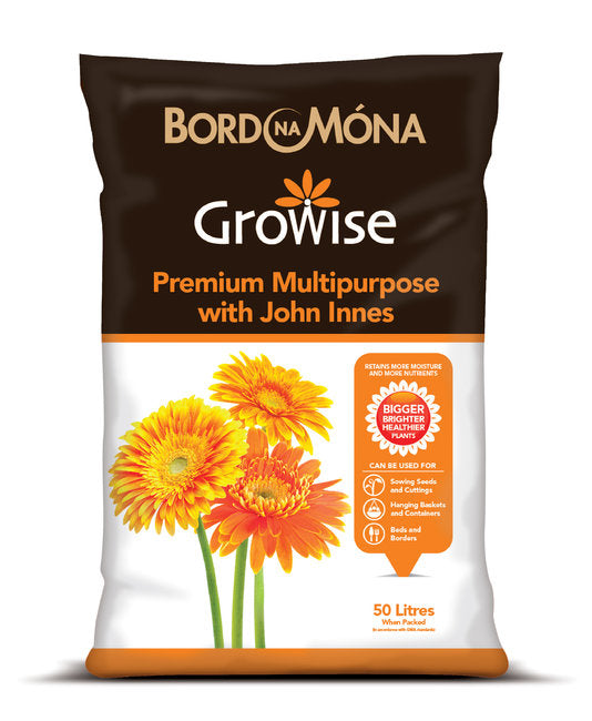 GROWISE MULTIPURPOSE COMPOST WITH JOHN INNES 50L