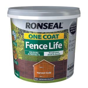 Ronseal One Coat Fence Life 5L Harvest Gold